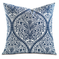Adelle Percale Decorative Pillow in Marine