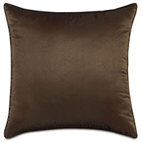 Freda Taffeta Decorative Pillow in Chocolate