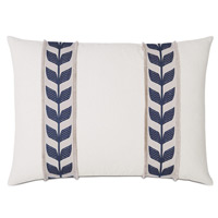 Akela Leaf Decorative Pillow in Blue