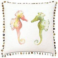 Hand-painted seahorses
