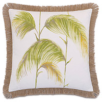 Hand-painted palm leaves