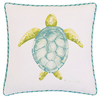 Hand-painted sea turtle