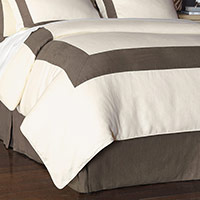 BREEZE PEARL/CLAY DUVET COVER