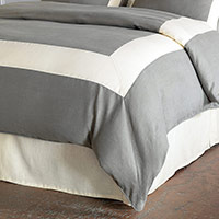 BREEZE SLATE/PEARL DUVET COVER and Comforter