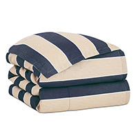 Abbot Indigo Button-Tufted Comforter