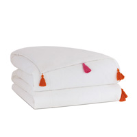 Baldwin White Hand-Tacked Comforter