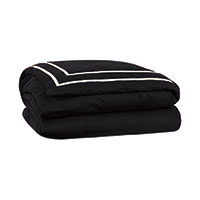 Resort Black Fret Duvet Cover