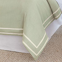 Resort Mint Fret Duvet Cover