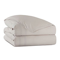Vail Percale Duvet Cover in Bisque