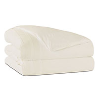 Vail Percale Duvet Cover in Ivory