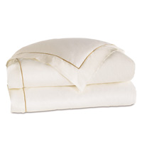 LINEA IVORY/SABLE DUVET COVER