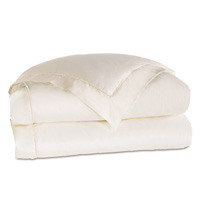Linea Velvet Ribbon Duvet Cover In Ivory & White