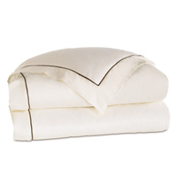 LINEA IVORY/WALNUT DUVET COVER