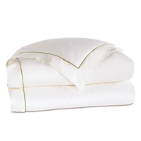 LINEA WHITE/ALOE DUVET COVER