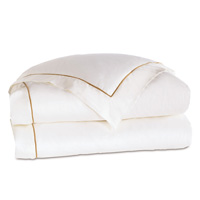 LINEA WHITE/ANTIQUE DUVET COVER