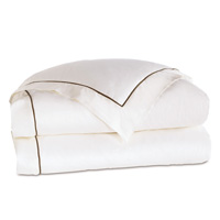 LINEA WHITE/WALNUT DUVET COVER