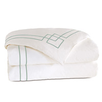 Grafico White/Aloe Duvet Cover