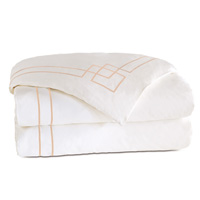 Grafico White/Nectar Duvet Cover
