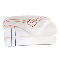 Grafico White/Shiraz Duvet Cover