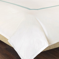 TESSA IVORY/LAKE DUVET COVER
