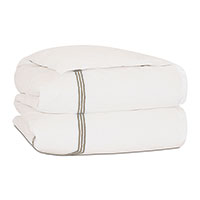 TESSA IVORY/SABLE DUVET COVER