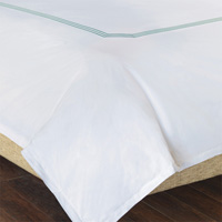 TESSA WHITE/LAKE DUVET COVER