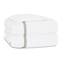 TESSA WHITE/SABLE DUVET COVER