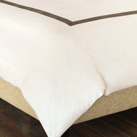 CORNICE IVORY/TRUFFLE DUVET COVER and Comforter