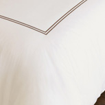 ENZO IVORY/BROWN DUVET COVER and Comforter