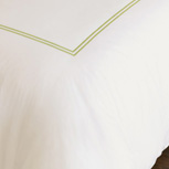 ENZO IVORY/LIME SUPER KING DUVET COVER