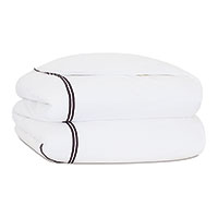 ENZO WHITE/BLACK DUVET COVER