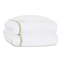 ENZO WHITE/LIME DUVET COVER