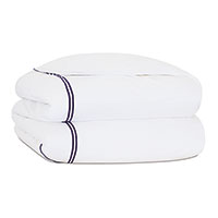 ENZO WHITE/NAVY DUVET COVER