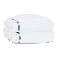 ENZO WHITE/OCEAN QUEEN DUVET COVER