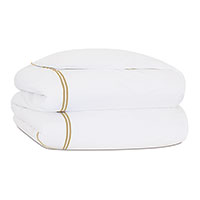 ENZO WHITE/SABLE DUVET COVER