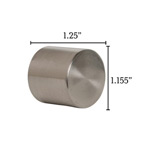 Metallo Nickel Flush End Cap Pair