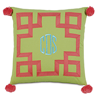 Embroidered 3-letter monogram