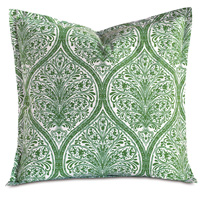 Adelle Percale Euro Sham In Grass