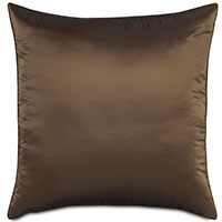 Freda Taffeta Euro Sham in Chocolate