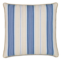 Maritime Stripe Euro Sham in Blue