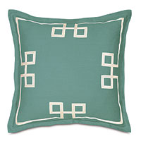 Resort Aqua Fret Euro Sham