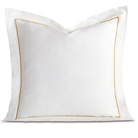 LINEA WHITE/SABLE EURO SHAM