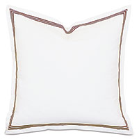 TESSA WHITE/BROWN EURO SHAM