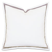 TESSA WHITE/SABLE EURO SHAM