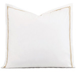 ENZO WHITE/ANTIQUE EURO SHAM