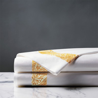 Adelle Percale Flat Sheet In Saffron