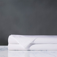 Vail Percale Flat Sheet in White