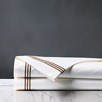 TESSA WHITE/BROWN FLAT SHEET