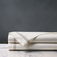 ENZO IVORY/SABLE FLAT SHEET