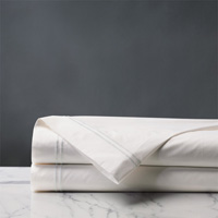 ENZO IVORY/WHITE FLAT SHEET